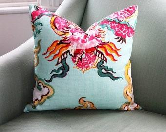 Jim Thompson Enter the Dragon Chinoiserie 20 Inch Cushion Pillow Cover