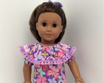Capri and top outfit to fit American Girl Dolls and other similar 18 inch dolls