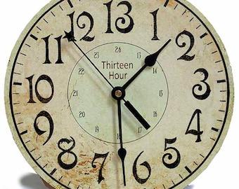 Backwards Clock Alice In Wonderland Decor Etsy