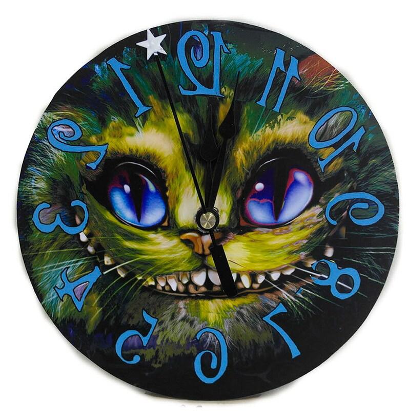 Cheshire Cat Grin Clock Alice In Wonderland Home Decor