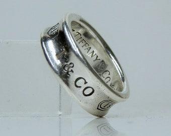 c5fa5328ee1d7 Tiffany silver ring | Etsy