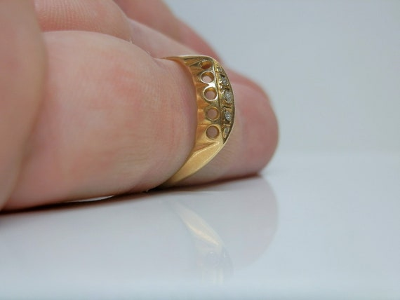 Antique 18k Gold & Rose Cut Diamond Ring. Size 7 … - image 10