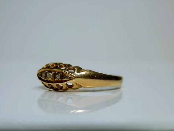 Antique 18k Gold & Rose Cut Diamond Ring. Size 7 … - image 2