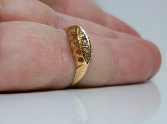 Antique 18k Gold & Rose Cut Diamond Ring. Size 7 … - image 9