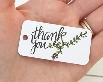 Thank You Tags / Wedding Favor Tags / Bridal Shower Tags / Product Tags / Product Labels / Product Packaging / Knitting Labels / Hang Tags