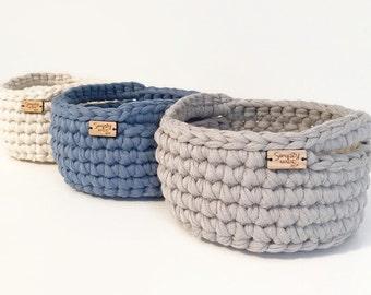 Graduation Gift / Crochet Basket / Crochet Bowl / Storage Basket / Home Decor / Catch All Dish / Decorative Basket / Dorm Decor