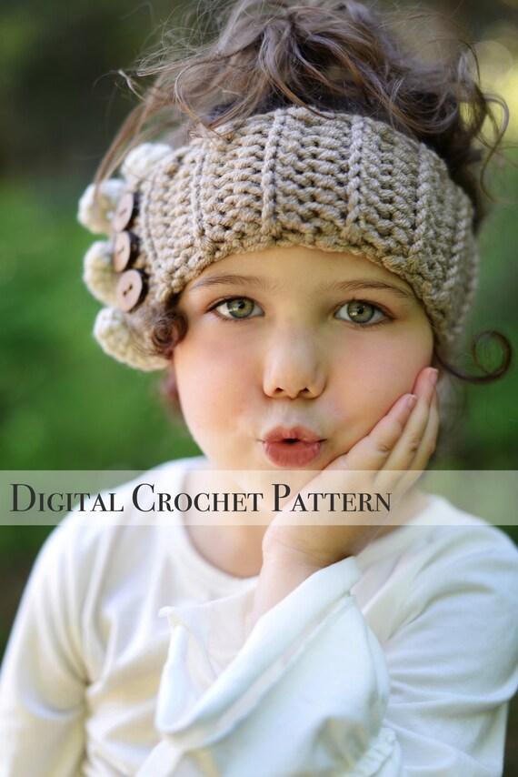 Crochet Ear Warmers Pattern Ruffle Ear Warmers Pattern 032 Etsy
