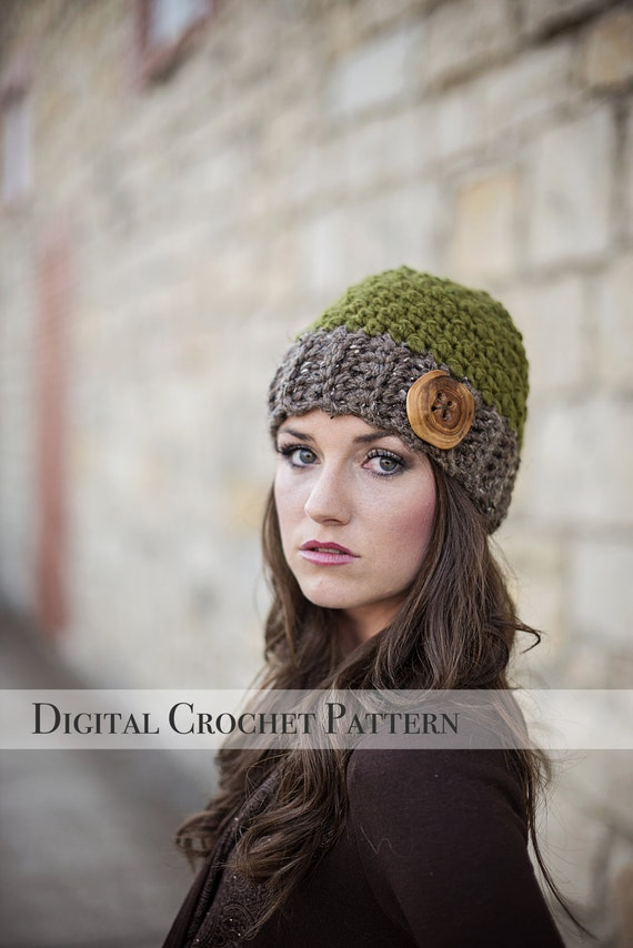 Crochet Pattern Hat Pattern The Jack And Jill Beanie Hat Etsy