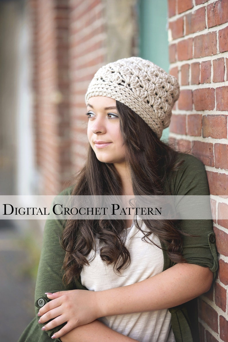 DIY Crochet Hat Pattern / Chunky Winter Hat Pattern / Crochet image 0