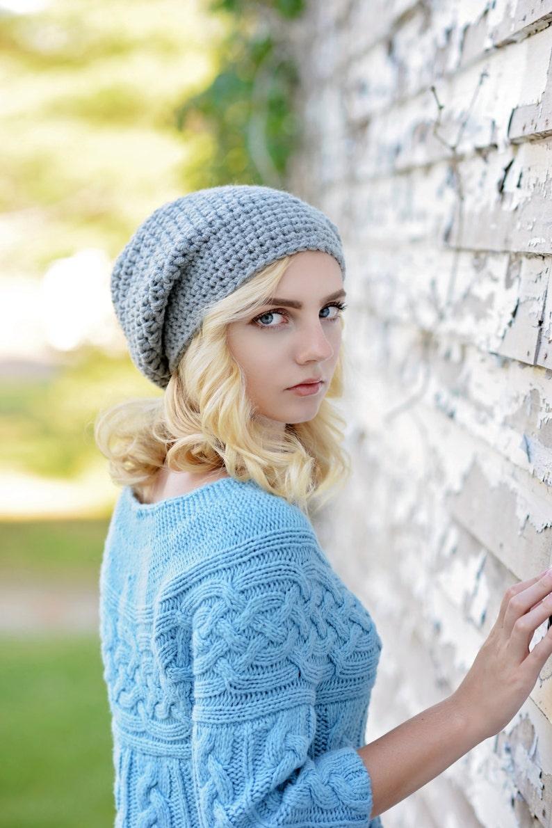 5b93fc409fb Crochet Slouchy Hat for Women   Slouchy Beanie Hat