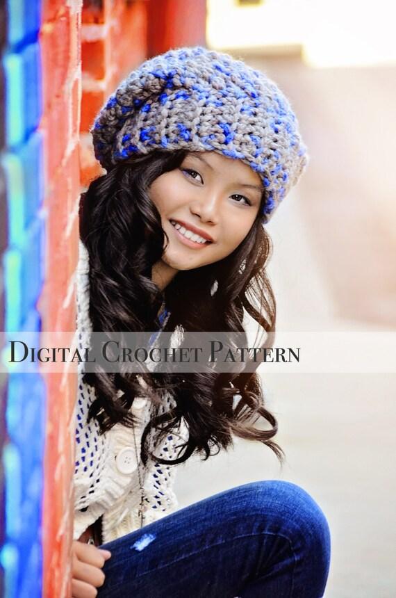 Crochet Pattern Slouchy Hat Crochet Pattern Crochet Hat Etsy