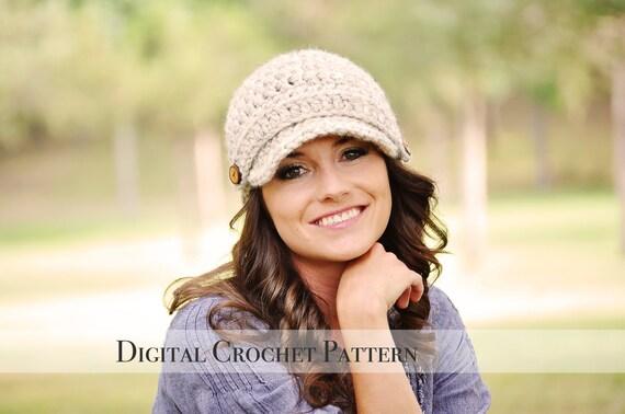 Crochet Pattern Crochet Hat Pattern Brimmed Hat Pattern Etsy