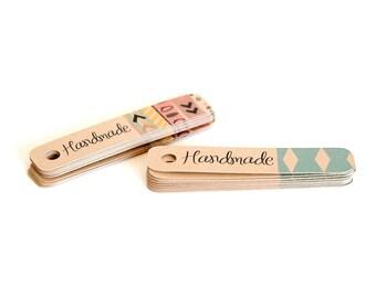 Handmade Hang Tags / Mini Gift Tags / Kraft Tags / Favor Tags / Spring Gift Tags