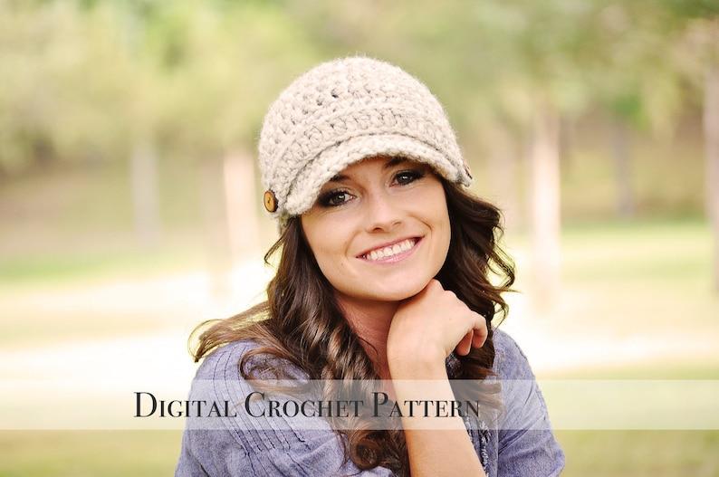 Crochet Pattern / Crochet Hat Pattern / Brimmed Hat Pattern / image 0