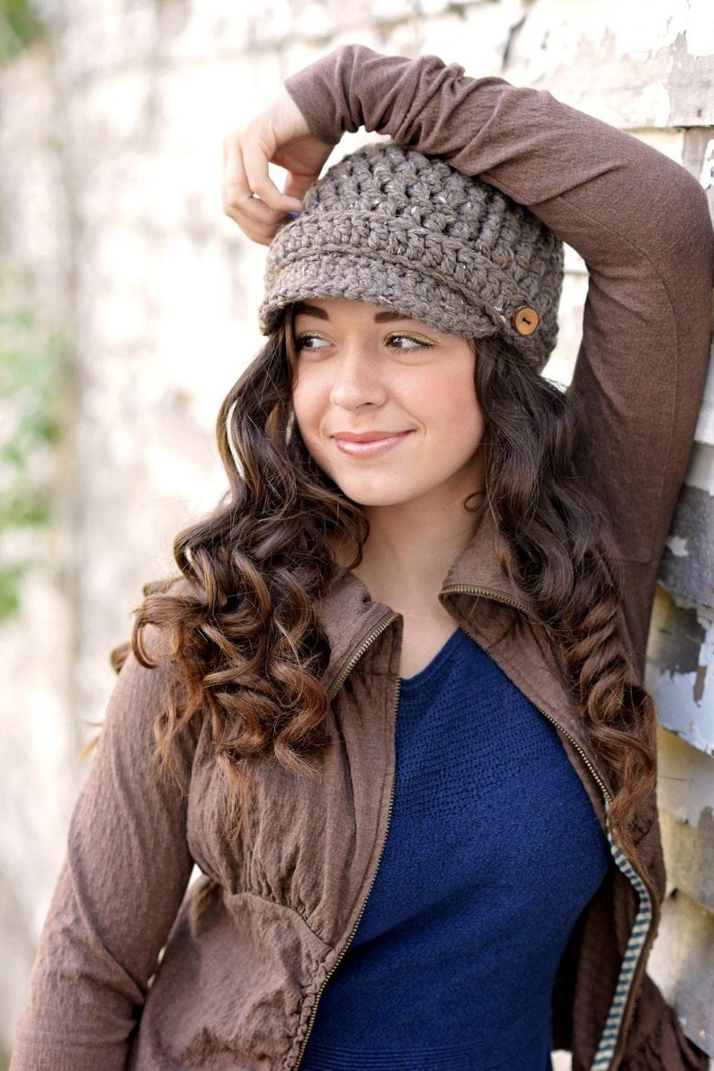 Gift for Women / Women's Crochet Hat / Womens Newsboy Hat Barley