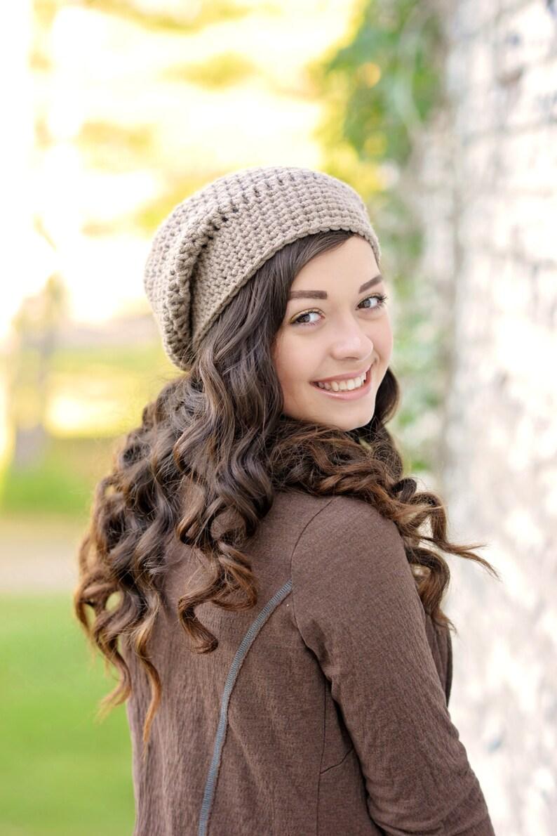 a41afa383bf Crochet Slouchy Beanie Hat   Women s Slouchy Hat