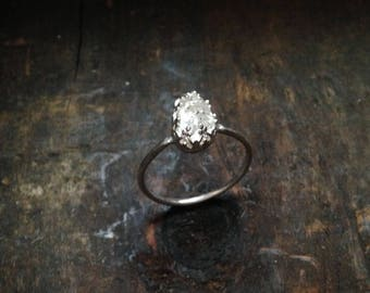 Herkimer Diamond Ring // Size 7