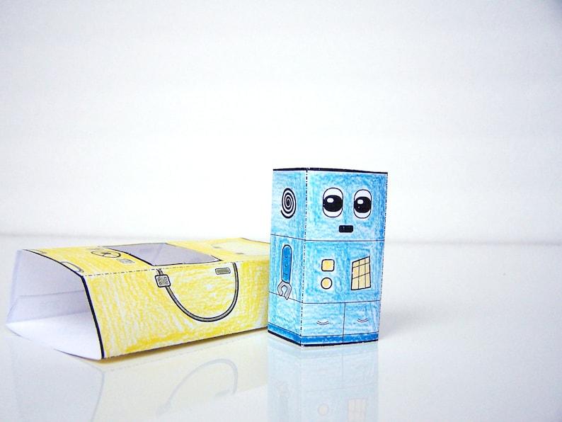 Printable Robot Craft Pack  Set of 5 robot printable crafts image 0