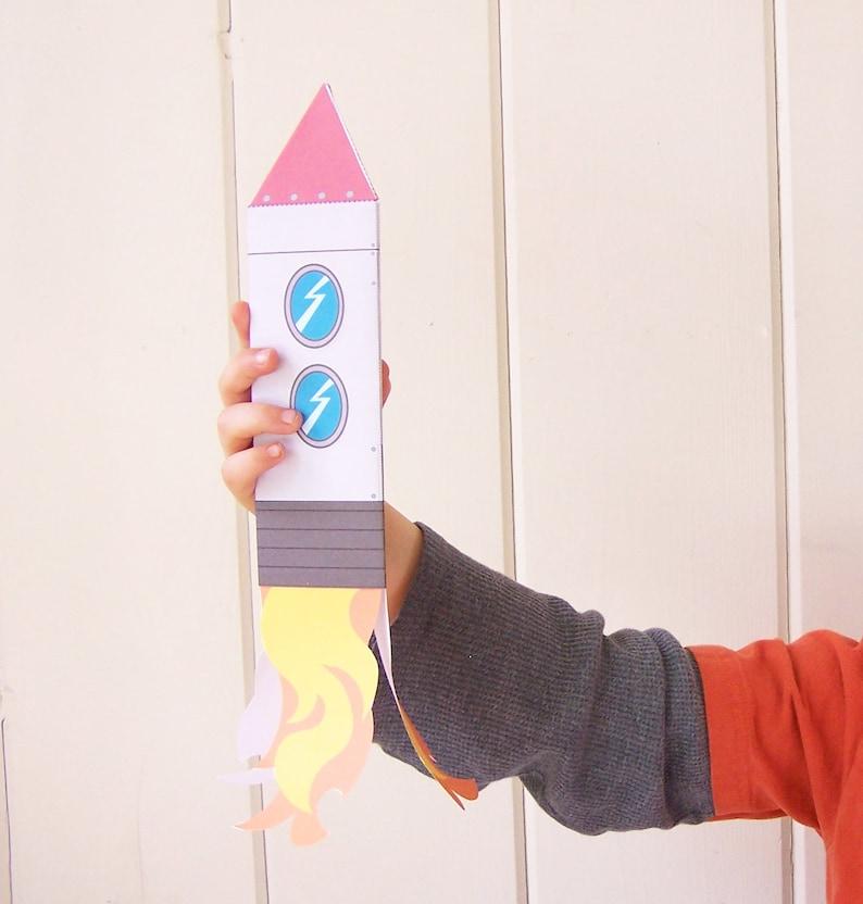 image about Printable Toys identify Printable Toys - Rocket Papercraft