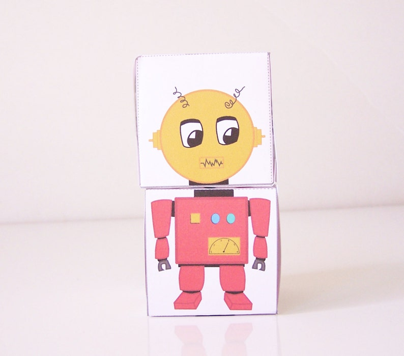 picture relating to Printable Robot named Printable Robotic Blocks - Craft Package for children