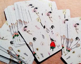 Cartes à jouer Standard illustré lunatique
