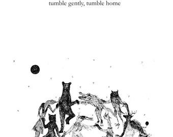 tumble gently, tumble home art zine