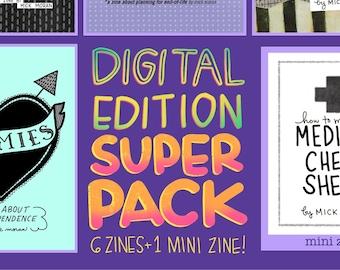 Digital Zine Super Pack! 6 Zines + 1 Mini Zine