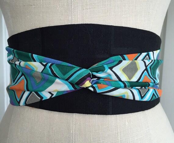 19170e5cbfcf Ceinture obi imprimé géométrique ceinture de ceinture obi   Etsy