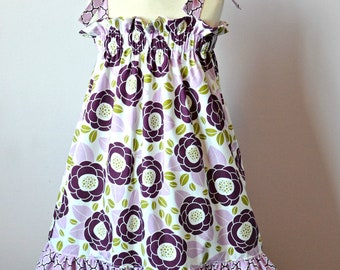 Haven Dress for Girls 6M-12Y PDF Pattern & Instructions-Sundress- Easy Sew-Beginner project -Tie straps-Double ruffles- Elastic top