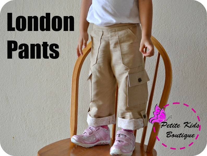 London Pants for Boys and Girls 12M-8Y PDF Pattern & image 0