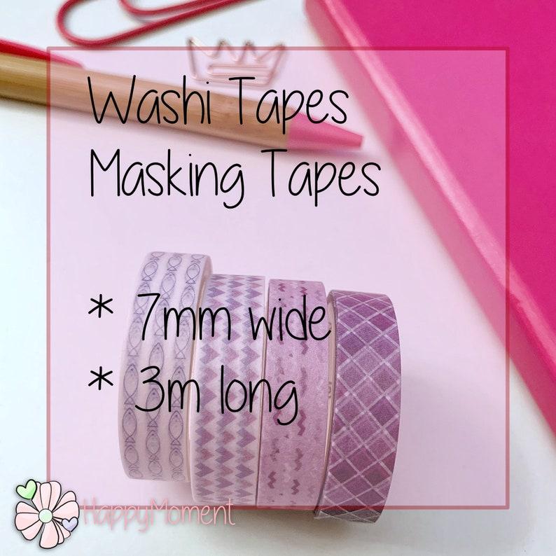 Slim Masking Tape 1 roll Rose gold Washi Tape
