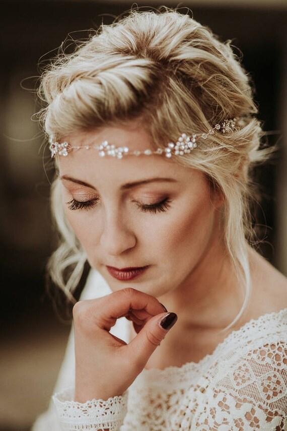 mariage cheveux accessoire bandeau perl bandeau de. Black Bedroom Furniture Sets. Home Design Ideas