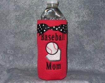 Water Bottle, Baseball Mom, Bottle Cozy