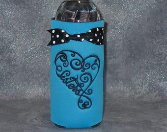 Water Bottle  Holder, Sisters 2, Bottle Cozy