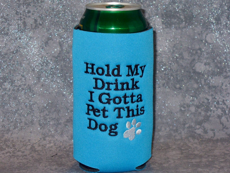 Pounder/Silo Can Cooler, dog, pounder cozy, silo cozy, 16oz can cooler,  beer can cooler, handmade cozies, beer cozy, neoprene, drink