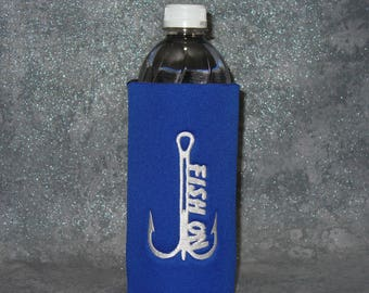 Bottle, Beverage Holder,Fish On, Water Bottle Cozy