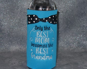Water Bottle  Holder, Grandma, Bottle Cozy