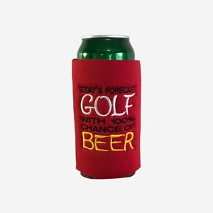 Gift For Golfers Pounder Can Cooler Embroidered Cozies 16 oz Can Cozies Silo Can Cooler Funny Saying Beer Can Cooler Beverage Holders