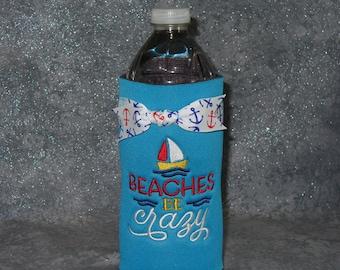 Water Bottle Cozy, Beaches, Bottle Holder
