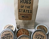 Gusto's Original RUBS of STATES - Barbecue Rub Gift Set -  BBQ Grilling Gift
