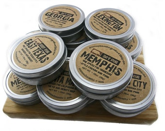 Your Choice! > 10 BBQ RUBS < Perfect for Gift Baskets, Office Gifts, Party and Wedding Favors