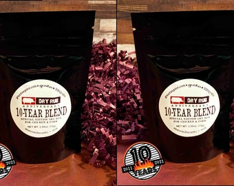 Gusto's 2-PACK ~ 10th ANNIVERSARY BBQ Rub ~ A Special Barbecue Blend for Chicken, Turkey and Pork