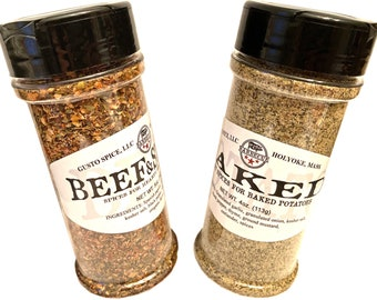 Gusto's STEAK and POTATO Spices  - Hearty and Savory Spices for Beef and Baked or Grilled Potatoes