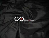 Silk Taffeta Fabric - Black T145 - Section Gray and silver - 1 yard 100 Silk taffeta