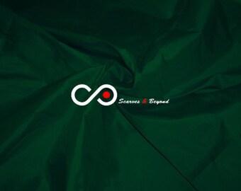 Silk Taffeta Fabric - Forest green T196 - Section Green - 1 yard 100% Silk taffeta