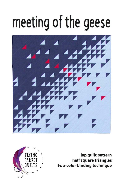 Modern quilt pattern Meeting of the Geese beginner pattern image 0