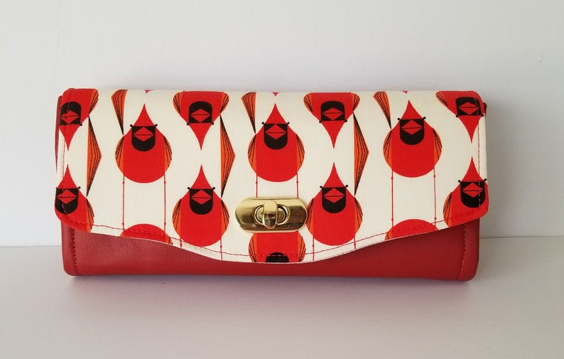 Wallet Charley Harper Cardinal and Red Leather Clutch wallet image 0