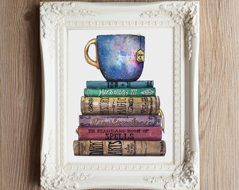 Giclee Art Print | Studious | Bibliophile Art | Various Sizes Available
