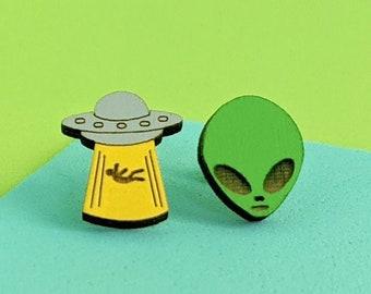 Ufo Earrings  Funny Earrings