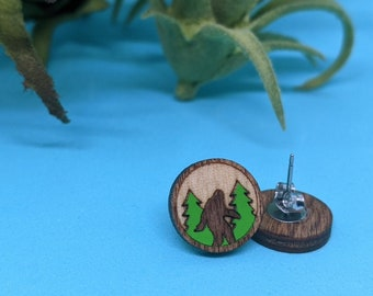 Bigfoot earring for you or a gift for your Sasquatch Yeti loving friend
